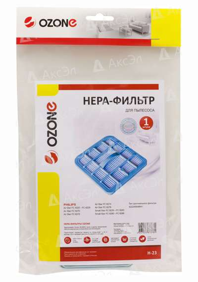 H 23.4 - H-23 НЕРА фильтр OZONE для пылесоса PHILIPS, соответствует типу фильтра: 422245948841
