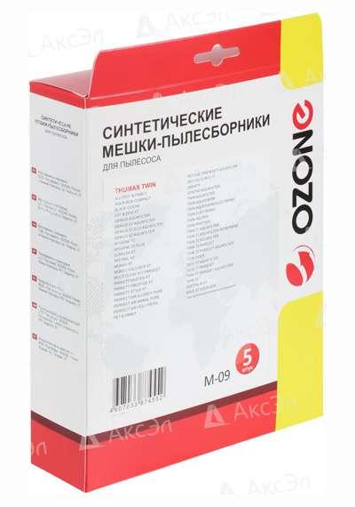 M 09.5 - M-09 Мешки-пылесборники Ozone синтетические 5 шт для пылесоса THOMAS