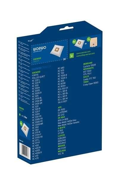 JgIEYAVQGu 1 - DMB 02 K Комплект пылесборников (Daewoo DU805)