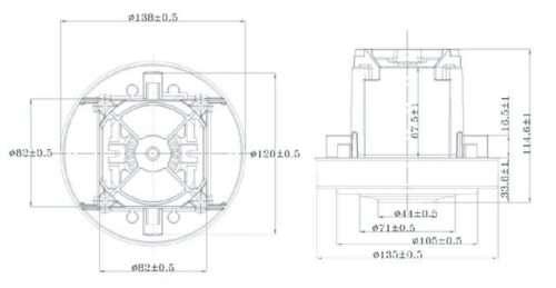 chertezh vc07w70 20180726160729 500x259 - Двигатель для пылесоса VC07W70 1500W (Philips)