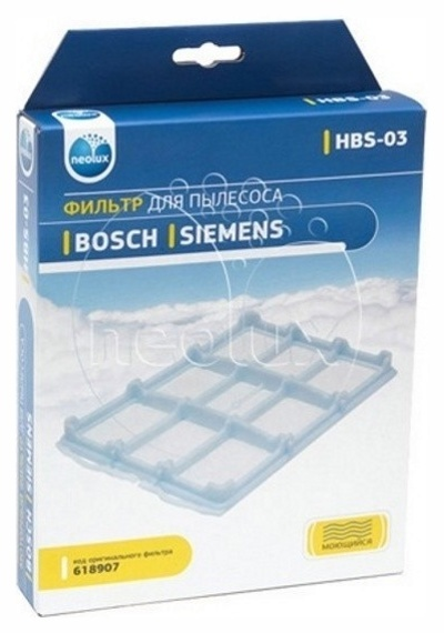 thumb 2298 product big 1 - HBS-03 NEOLUX Моторный фильтр для BOSCH / SIEMENS (код 618907)