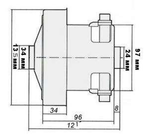 samsung - Двигатель для пылесоса Samsung, 2400w, соответствует VCM-M30AU