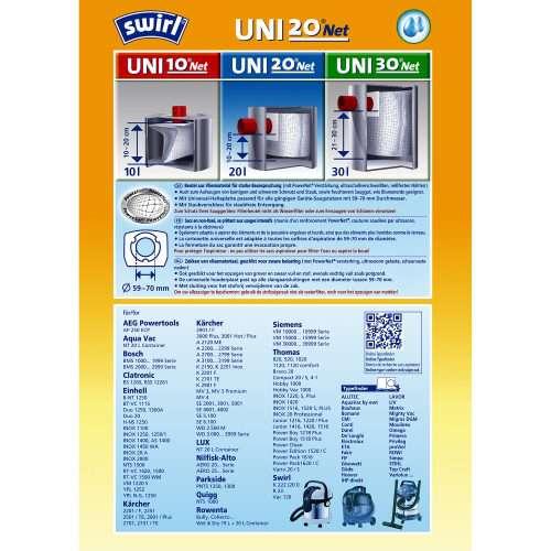 Staubsaugerbeutel Swirl Uni20 PowerNet 6575106 png 500x500 - SWIRL UNI 20net/3 Net Комплект универсальных мешков для пылесоса
