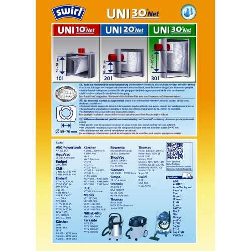 мешки для пылесоса универсальные, 30 литров